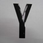 Strakke losse letters 15 cm zwart