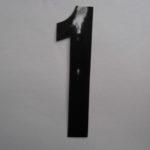 Strakke losse cijfers 15 cm zwart