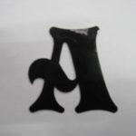 Oudhollandse losse letters 6 cm zwart