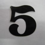 Oudhollandse losse cijfers 6 cm zwart
