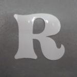 Oudhollandse losse letters 6 cm wit