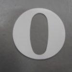 Oudhollandse losse cijfers 6 cm wit
